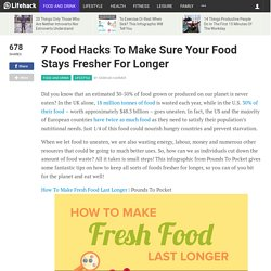 7 Food Hacks To Make Sure Your Food Stays Fresher For Longer