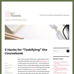 """5 Hacks for """"Taskifying"""" the Coursebook"""