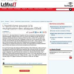 L'hacktivisme pousse à la multiplication des attaques DDoS