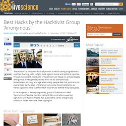 Best Hacks by the Hacktivist Group 'Anonymous'