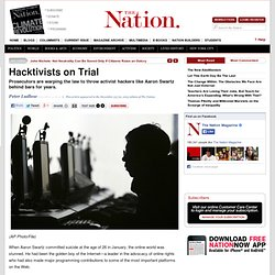 Hacktivists on Trial