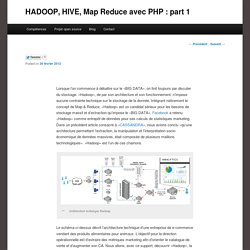 HADOOP, HIVE, Map Reduce avec PHP : part 1
