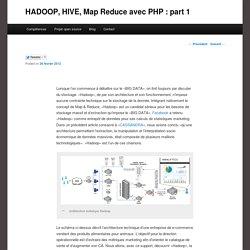 HADOOP, HIVE, Map Reduce avec PHP : part 1