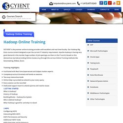 Hadoop Online Training in USA