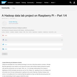 A Hadoop data lab project on Raspberry Pi – Part 1/4