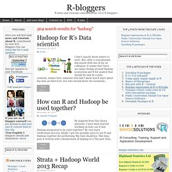 Hadoop and R