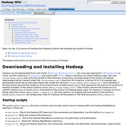 GettingStartedWithHadoop - Hadoop Wiki
