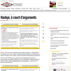Hadopi, à court d'arguments