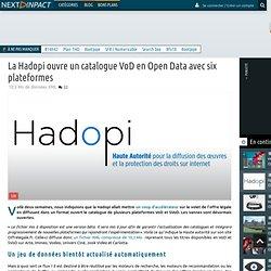 La Hadopi ouvre un catalogue VoD en Open Data avec six plateformes