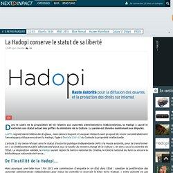 La Hadopi conserve le statut de sa liberté