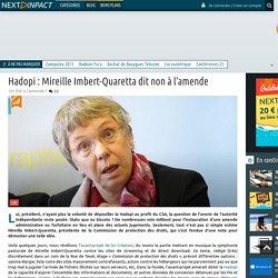 Hadopi : Mireille Imbert-Quaretta dit non à l'amende