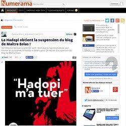 La Hadopi obtient la suspension du blog de Maître Eolas !