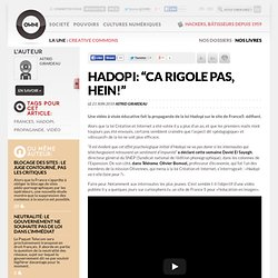 "Hadopi: ""Ca rigole pas, hein!"" » Article » owni.fr, digital jour"