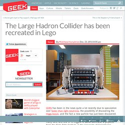 The Large Hadron Collider has been recreated in Lego