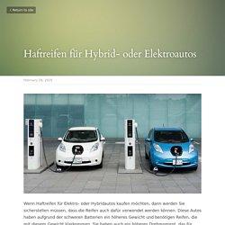 Haftreifen für Hybrid- oder Elektroautos