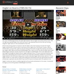 Hagler vs Hearns (1985-04-15)