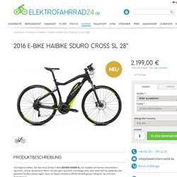 "2016 E-Bike Haibike SDURO Cross SL 28"" – Elektrofahrrad24"