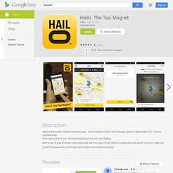 Hailo. The Taxi Magnet.