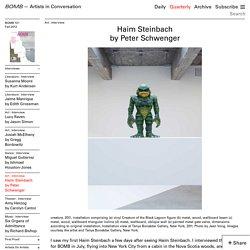 Haim Steinbach by Peter Schwenger - Bomb Magazine - Artists in Conversation