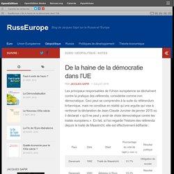 De la haine de la démocratie dans l'UE – RussEurope
