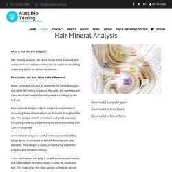 Hair Analysis Sydney