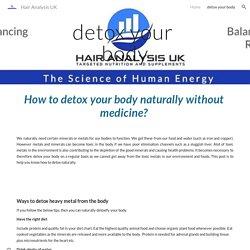 Hair Analysis UK - detox your body