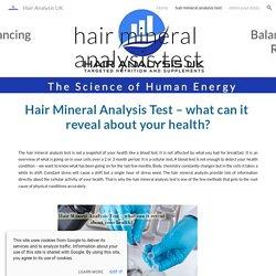 Hair Analysis UK - hair mineral analysis test