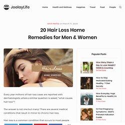 7 Hair Loss Home Remedies for Men & Women