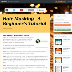 Hair Masking- A Beginner's Tutorial
