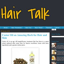 Hair Talk: Castor Oil an Amazing Herb for Hair and Skin