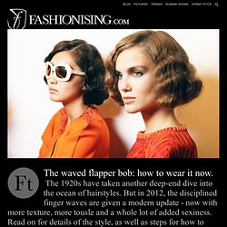 Hair how to: tousled flapper bob hairstyle