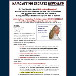 HairCutting Secrets Revealed | Easily Learn How to Cut Hair Like a Pro | Learn Haircutting from a Professional Master Vidal Sassoon Hairstylist