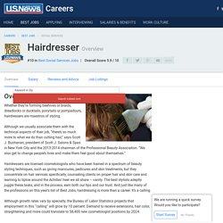 Hairdresser - Career Rankings, Salary, Reviews and Advice