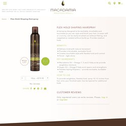 Flex Hold Shaping Hairspray by Macadamia Professional