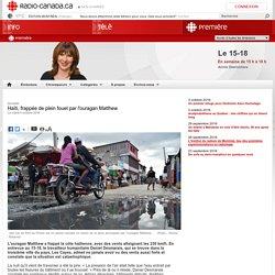 Haïti, frappée de plein fouet par l'ouragan Matthew