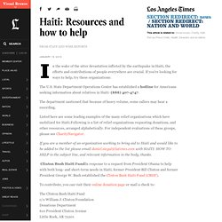 Haiti: Resources and how to help