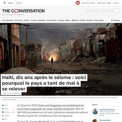 Haïti, dix ans après le séisme:voici pourquoi le pays a tant de mal à se relever
