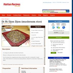 Haitian Recipes