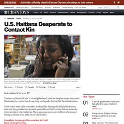 U.S. Haitians Desperate to Contact Kin