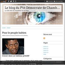 Pour le peuple haïtien - Le blog du P'tit Démocrate de Chambéry