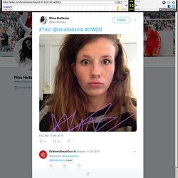 """Nina Haitsma on Twitter: """"#Test @ninahaitsma #DWDD"""