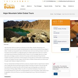 Hajar Mountain Safari Dubai, Desert Safari Tours in Dubai