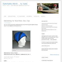 Häkelanleitung für Boshi-Mütze Otaru Style › Kunterbuntes-Allerlei ... by Sanne