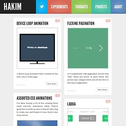 Interactive Experiments Focused on HTML5