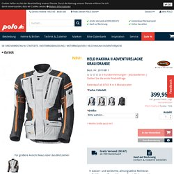 Held Hakuna II Adventurejacke grau/orange XL günstig kaufen bei POLO!