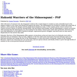 Hakuoki Warriors of the Shinsengumi - PSP