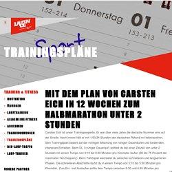 Mit dem Plan von Carsten Eich in 12 Wochen zum Halbmarathon unter 2 Stunden « Trainingspläne « Laufen.de