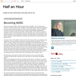 Half an Hour: Becoming MOOC