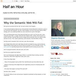 Why the Semantic Web Will Fail