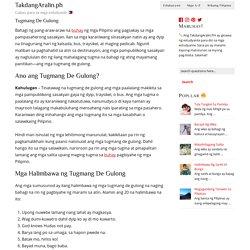 Tagalog blog